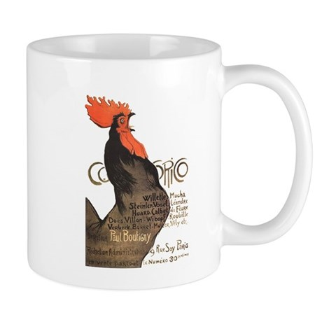 Vintage Rooster Crowing Mug
