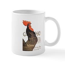 Vintage Rooster Crowing Mug