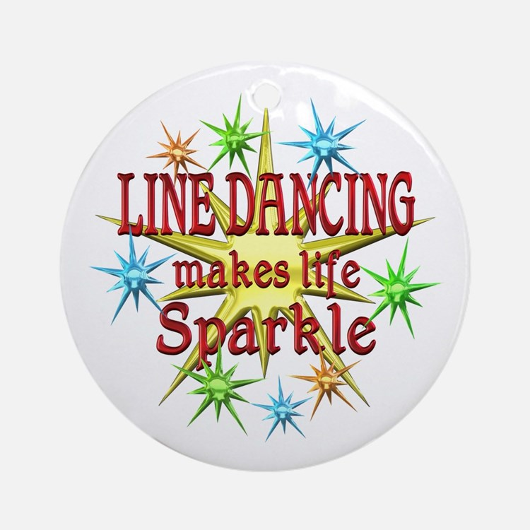 Line Dancing Sparkles Ornament (Round)