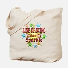 Line Dancing Sparkles Tote Bag