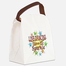 Line Dancing Sparkles Canvas Lunch Bag