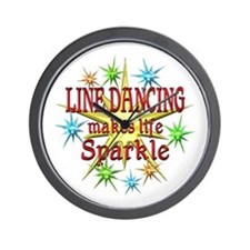Line Dancing Sparkles Wall Clock