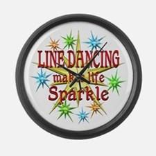 Line Dancing Sparkles Large Wall Clock