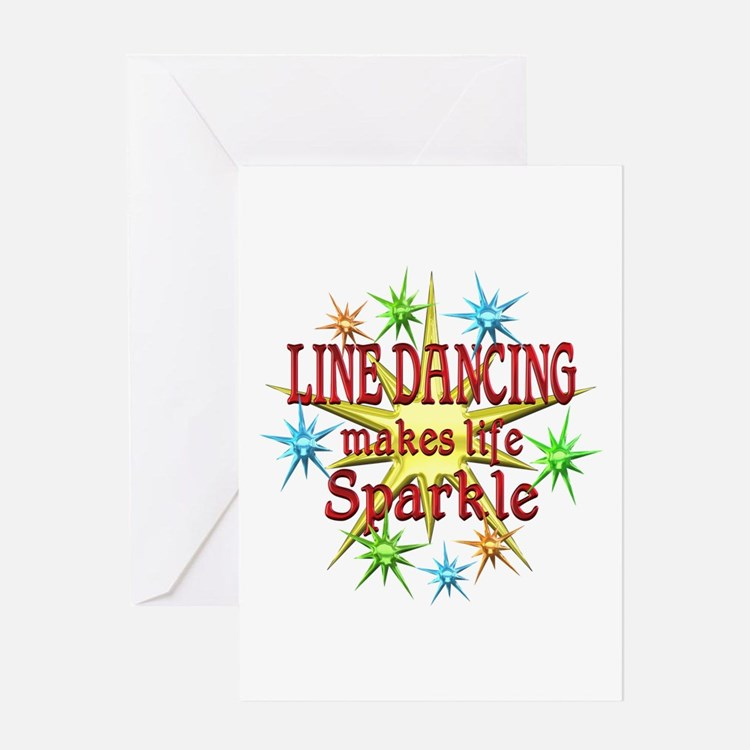 Line Dancing Sparkles Greeting Card