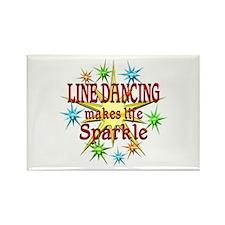 Line Dancing Sparkles Rectangle Magnet