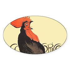 Vintage Rooster Crowing Decal