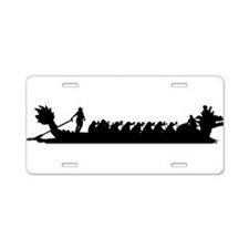 Cute Dragon boat paddling Aluminum License Plate