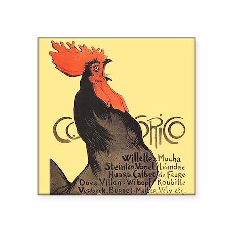 Vintage Rooster Crowing Sticker