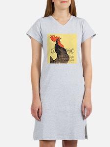 Vintage Rooster Crowing Women's Nightshirt