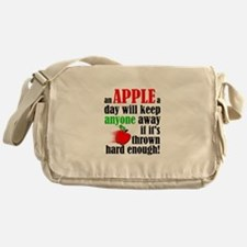 An Apple A Day Will Keep Anyone Away Funny Messeng