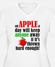 An Apple A Day Will Keep Anyone Away Funny Plus Si