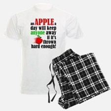 An Apple A Day Will Keep Anyone Away Funny Pajamas