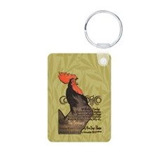 Vintage Rooster Crowing Keychains