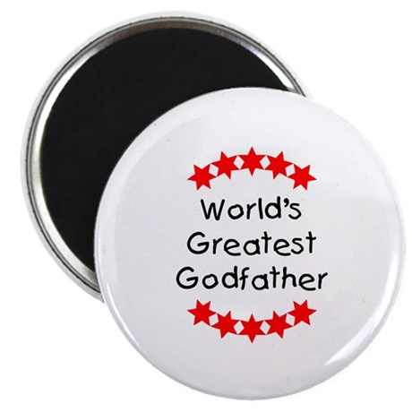 """World's Greatest Godfather 2.25"""" Magnet (100 pack)"""