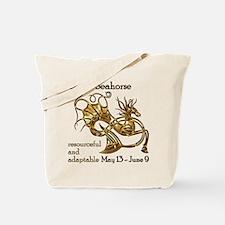 Celtic Seahorse Tote Bag