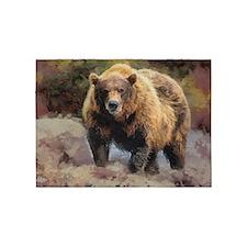 Camo Grizzly Bear 5'x7'Area Rug