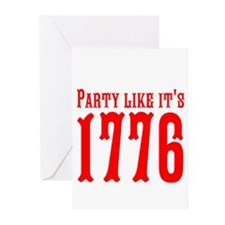 Party Like Its 1776 Greeting Cards (Pk of 10)