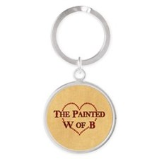 The Painted W Of B Round Keychain