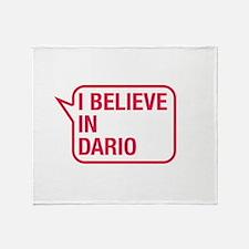 I Believe In Dario Throw Blanket