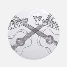 New York Guitars Ornament (Round)