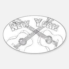 New York Guitars Decal