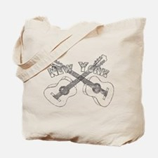 New York Guitars Tote Bag