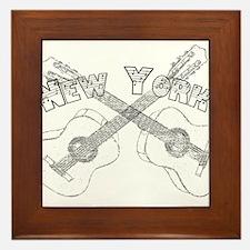 New York Guitars Framed Tile