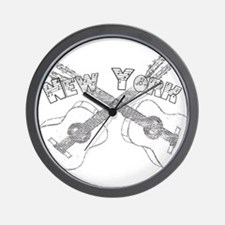 New York Guitars Wall Clock