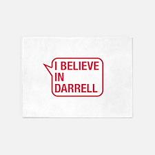 I Believe In Darrell 5'x7'Area Rug
