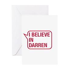 I Believe In Darren Greeting Card