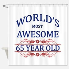World's Most Awesome 65 Year Old Shower Curtain