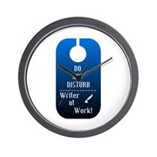Do Not Disturb Writer At Work Wall Clock