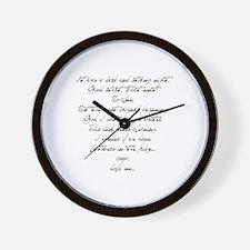 Writer's Block (Dark & Stormy Wall Clock