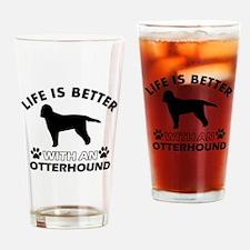 Life is better with Irish Otterhound Drinking Glas