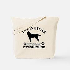 Life is better with Irish Otterhound Tote Bag