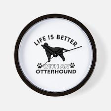 Life is better with Irish Otterhound Wall Clock