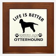 Life is better with Irish Otterhound Framed Tile