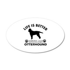 Life is better with Irish Otterhound Wall Decal