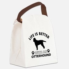 Life is better with Irish Otterhound Canvas Lunch