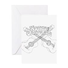 North Carolina Guitars Greeting Card