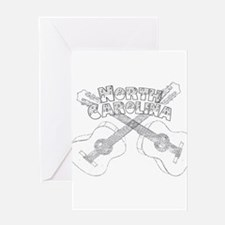 North Carolina Guitars Greeting Card