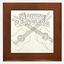 North Carolina Guitars Framed Tile