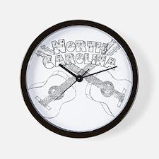 North Carolina Guitars Wall Clock