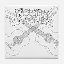 North Carolina Guitars Tile Coaster