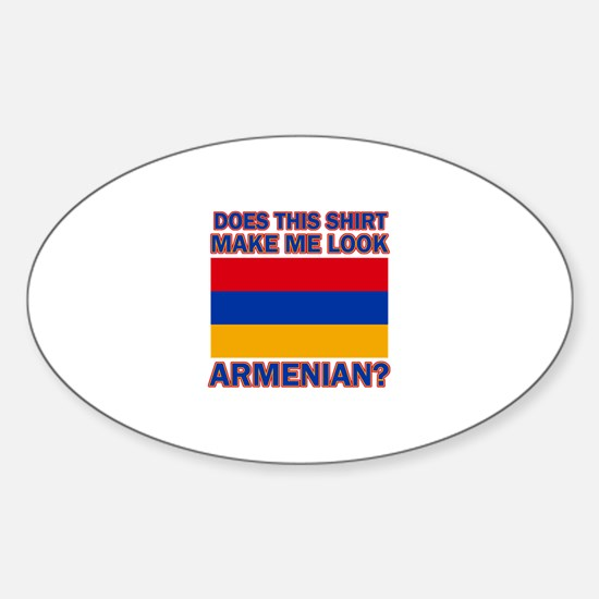 Armenian flag designs Sticker (Oval)