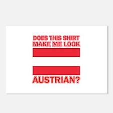 Austrian flag designs Postcards (Package of 8)