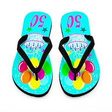 FUN 50TH Flip Flops