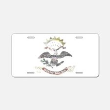 North Dakota Vintage State Flag Aluminum License P