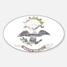 North Dakota Vintage State Flag Decal