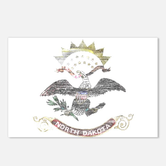 North Dakota Vintage State Flag Postcards (Package